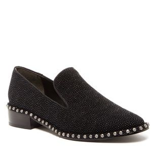 New Adrianna Papell Studded Smoking Flats Loafers